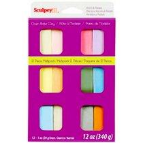 Набор полимерной глины SculpeyIII Perls&Pastels, 12 цветов по 28г