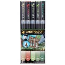 Набор 5 маркеров Chameleon 5-Pen Naturel Tones Set СТ0512