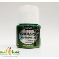 Краска под обжиг металик  непрозрачная  Porcelaine Pebeo Цвет Зеленый 24101