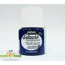 Краска по светлым тканям ультрамарин 012 Transparent Setacolor Pebeo