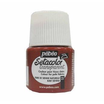 Краска по светлым тканям сиена натуральная 025 Transparent Setacolor Pebeo