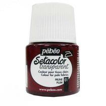 Краска по светлым тканям Transparent Setacolor Pebeo №01 Слива, 45мл.