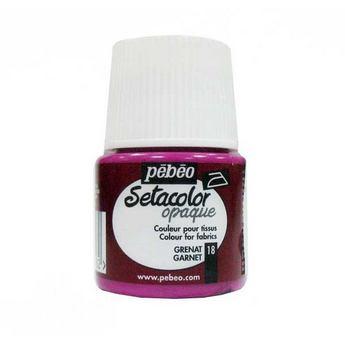 Краска для темных тканей гранатовый 018 Setacolor Opaque Pebeo