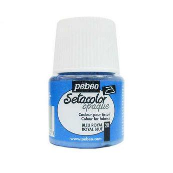 Краска для темных тканей голубой королевский 020 Setacolor Opaque Pebeo