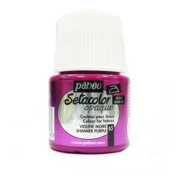 Краска для темных тканей лиловый 065 Setacolor Opaque Pebeo