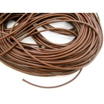 Кожаный шнур, цвет коричневый, толщина 4 мм