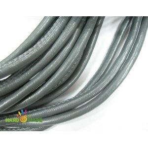 Шнур кожзам, цвет серый, толщина 7 мм