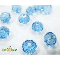 Бусины чешский хрусталь, цвет голубой прозрачный №24