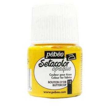 Краска для темных тканей Желтый 013 Setacolor Opaque Pebeo