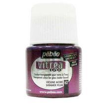 Краска для стекла под обжиг Vitrea Pebeo 62, цвет - фиолетовый муаровый, 45мл.
