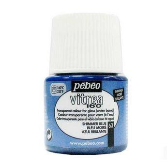 Краска для стекла под обжиг Vitrea Pebeo Голубой муаровый 63