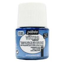 Краска для стекла под обжиг Vitrea Pebeo 63, цвет - голубой муаровый, 45мл.