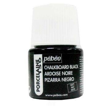 Краска под обжиг непрозрачная Черный матовый Porcelaine Pebeo 012