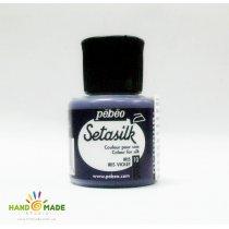 """10 Краска по шелку и светлым тканям растекающаяся """"Setasilk"""" Ирис фиолетовый"""