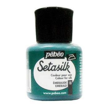 """Краска по шелку и светлым тканям растекающаяся """"Setasilk"""" Изумрудный 18"""