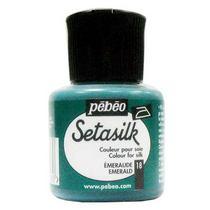 """18 Краска по шелку и светлым тканям растекающаяся """"Setasilk"""" Изумрудный"""