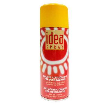 Аэрозольная краска Idea sprey цвет желтый темный №118, 200 мл