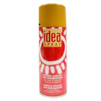 Аэрозольная краска Idea sprey цвет охра желтая №131, 200 мл