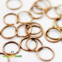Соединительные кольца, цвет  медь 1 см