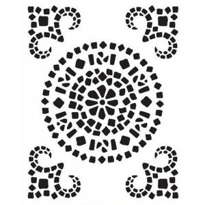 "Универсальный трафарет Viva 21х29,7 см ""Мозаика орнамент"" 9002 327 00"