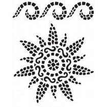 "Универсальный трафарет Viva 21х29,7 см ""Мозаика солнце"" 9002 328 00"