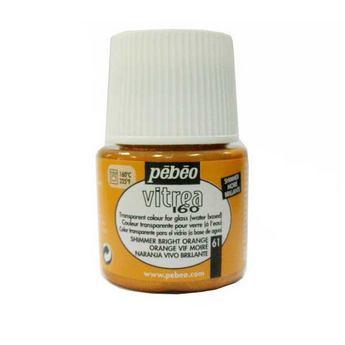Краска для стекла под обжиг Vitrea Pebeo Оранжеый Муаровый 61