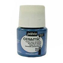 Краска-эмаль лаковая непрозрачная Ceramic Pebeo 35, цвет - голубой, 45мл.