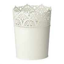 Кашпо для цветов SKURAR, 15см, цвет - белый
