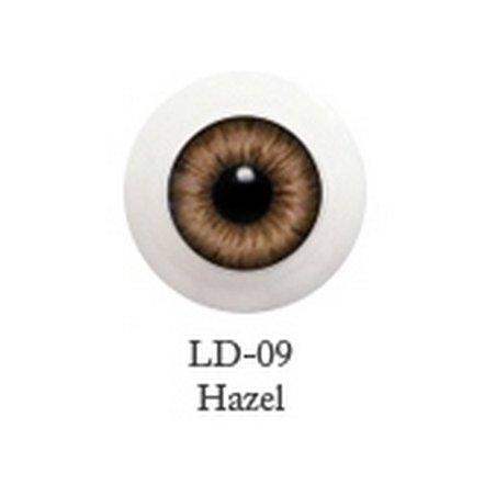 Акриловые глаза для кукол, цвет - светло-коричневые, 10 мм. Арт. G10LD-09