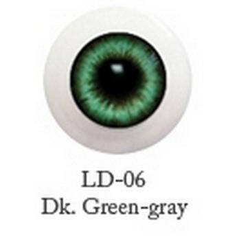 Акриловые глаза для кукол, цвет - серо-зеленые, 6 мм. Арт. G6LD-06