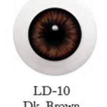 Акриловые глаза для кукол, цвет - темно-коричневые, 14 мм. Арт. G14LD-10