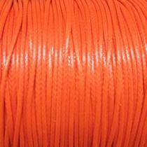 Шнур синтетический плетеный, цвет оранжевый 1 мм, 1м.