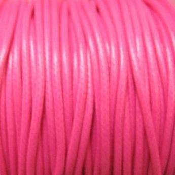Шнур хлопок плетеный, цвет розовый 2 мм
