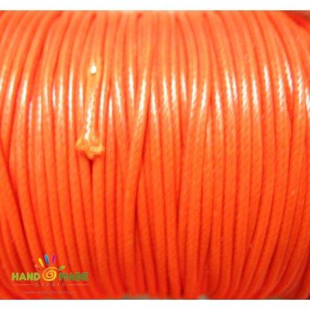 Шнур хлопок плетеный, цвет оранжевый 2 мм