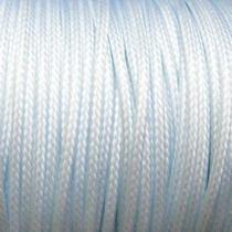 Шнур синтетический плетеный, цвет белый 2 мм, 1м.