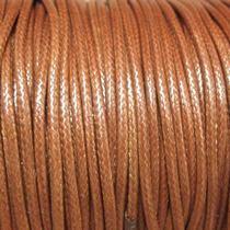 Шнур синтетический плетеный, цвет светло-коричневый 2 мм, 1м.