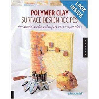 """Книга по лепке из полимерной глины """"Polymer Clay Surface Design Recipes"""""""