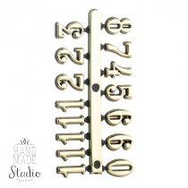Цифры золото 09 арабские
