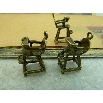 Бронзовая металлическая подвеска Стульчик для кормления