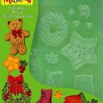 """Формочки для глины Makin's """"Рождественский декор"""""""