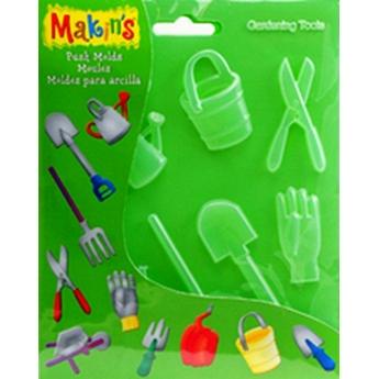 """Формочки для глины Makin's """"Садовые инструменты"""""""