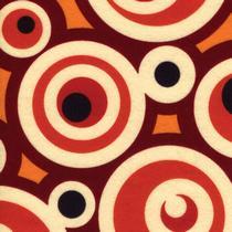№042 Фетр листовой, коричнево-бежевые круги