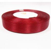 Атласная лента, цвет бордовый, 12мм, 1м.