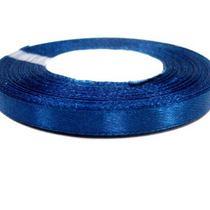 Атласная лента, цвет синий, 6мм
