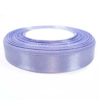 Атласная лента, цвет лиловый, 12мм