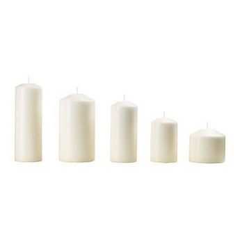 Свеча парафиновая, высота - 8 см