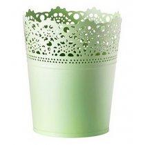 Кашпо для цветов SKURAR, 15см, цвет - зеленый