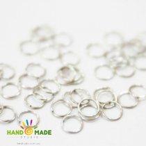 Соединительные кольца, цвет  сталь 1 см