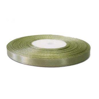 Атласная лента, цвет оливковый, 7мм
