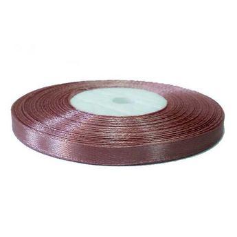Атласная лента, цвет грязно-розовый, 7мм